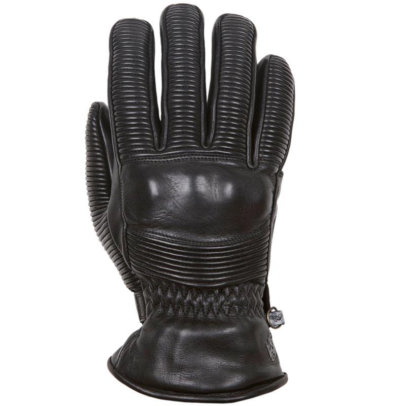 gants moto hiver helstons tornado cuir noir vintage homologue. Black Bedroom Furniture Sets. Home Design Ideas