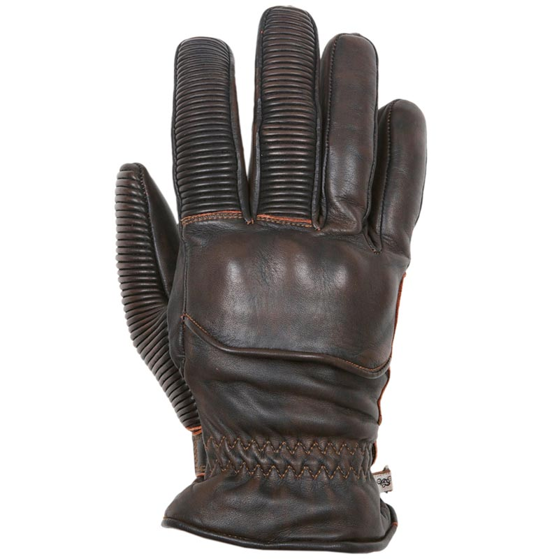 gants moto hiver helstons ranchero cuir marron vintage homologue. Black Bedroom Furniture Sets. Home Design Ideas