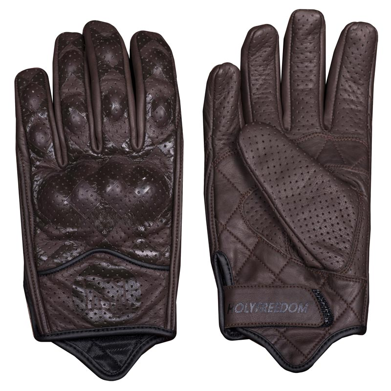 gants moto vintage holy freedom bullit brown damier marron. Black Bedroom Furniture Sets. Home Design Ideas