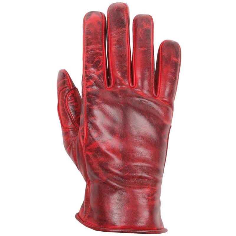 gants moto femme helstons stella t cuir soft rouge vintage ce. Black Bedroom Furniture Sets. Home Design Ideas