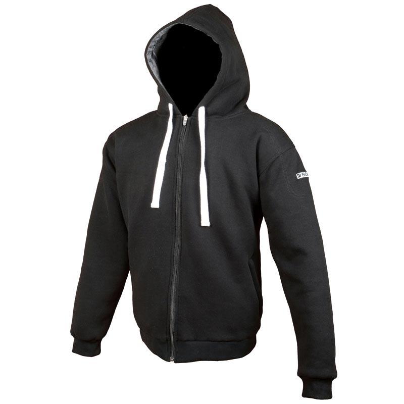 hoodie booster kevlar core black sweat moto blouson biker. Black Bedroom Furniture Sets. Home Design Ideas