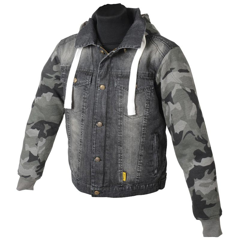 hoodie booster kevlar denim camo sweat moto blouson jean. Black Bedroom Furniture Sets. Home Design Ideas