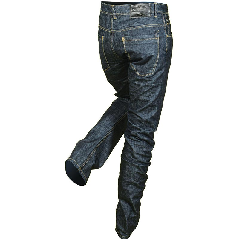 jean moto kevlar booster 650 dark wash pantalon homme vintage. Black Bedroom Furniture Sets. Home Design Ideas