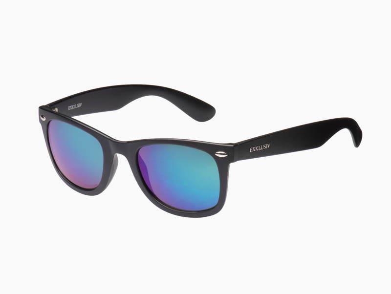 lunettes exklusiv neon noir mat verres miroir vert soleil. Black Bedroom Furniture Sets. Home Design Ideas