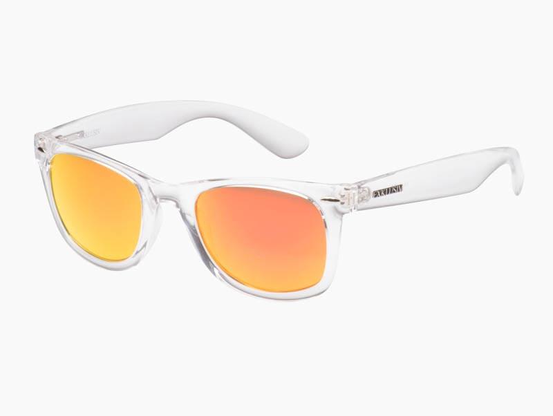 nouvelle collection belle et charmante meilleur Lunettes Exklusiv Neon transparent, verres miroir orange, soleil