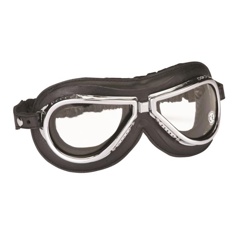 lunettes climax 500 moto vintage masque homologue ce chrome noir d298cb0d6ad4