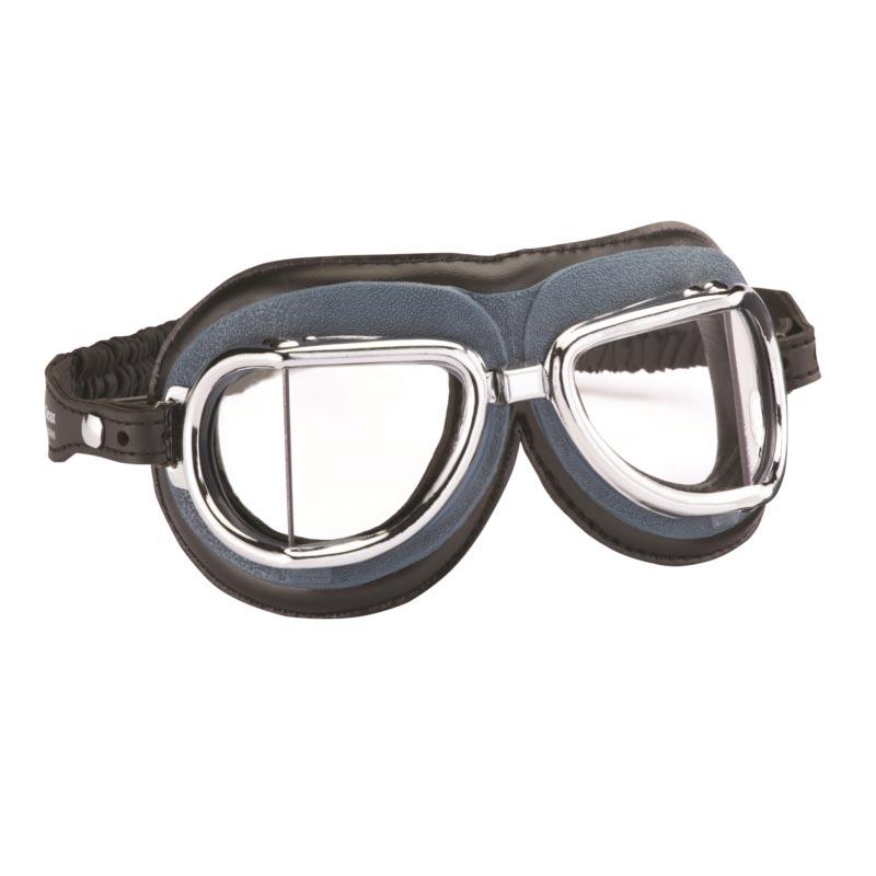 lunettes climax 513 chrome gris noir moto vintage masque retro pans coupes e5a8aafac03e