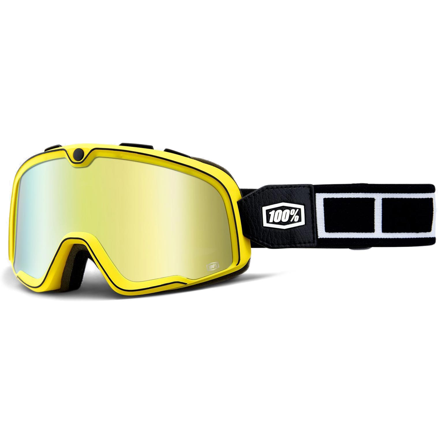c9b490e48e136d masque moto 100 barstow burnworth mirror gold lens scrambler jaune noir
