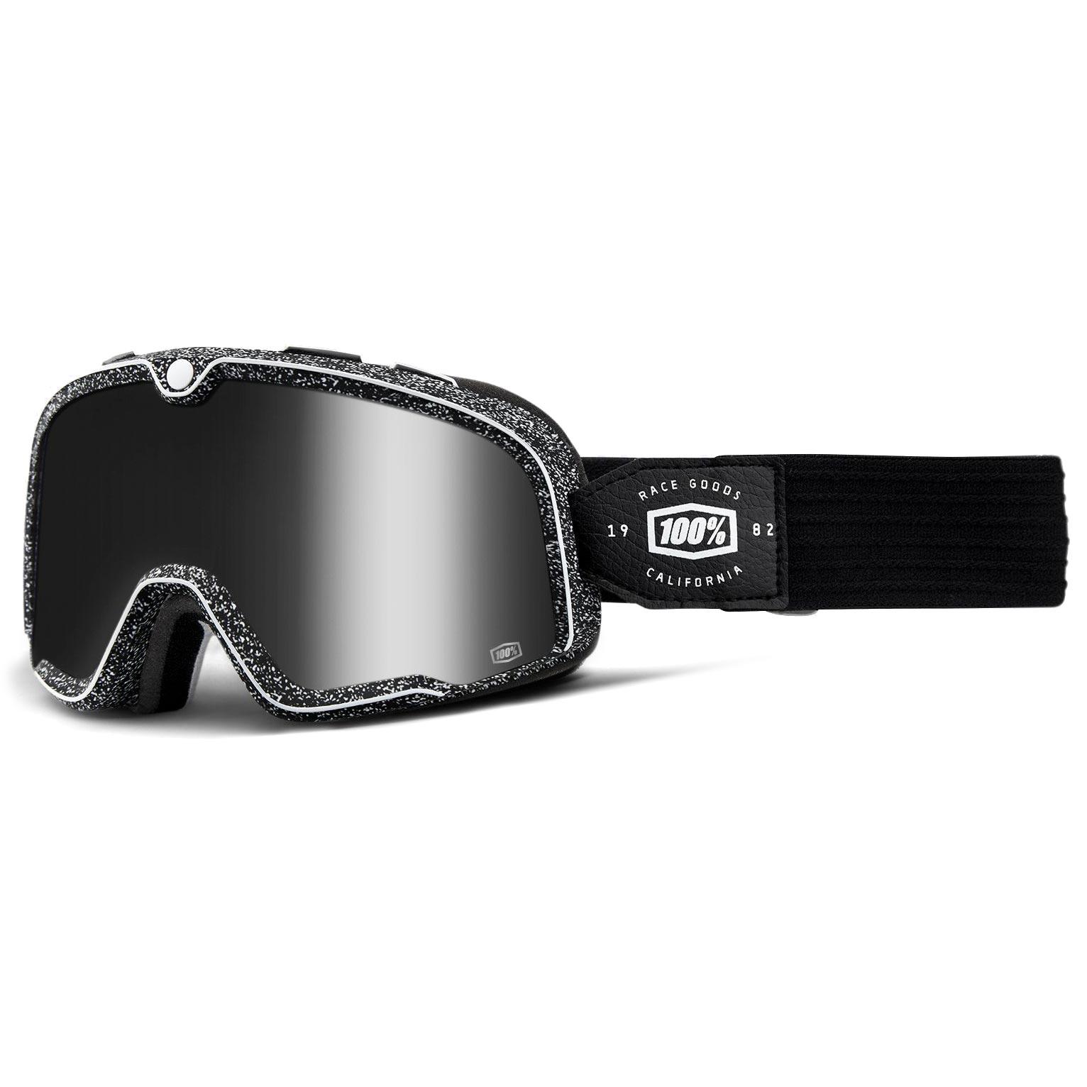 52f551032244da masque moto 100 barstow noise mirror silver lens noir harley davidson biker