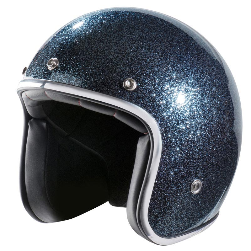 casque moto vintage nox n242 bleu paillet jet scooter. Black Bedroom Furniture Sets. Home Design Ideas