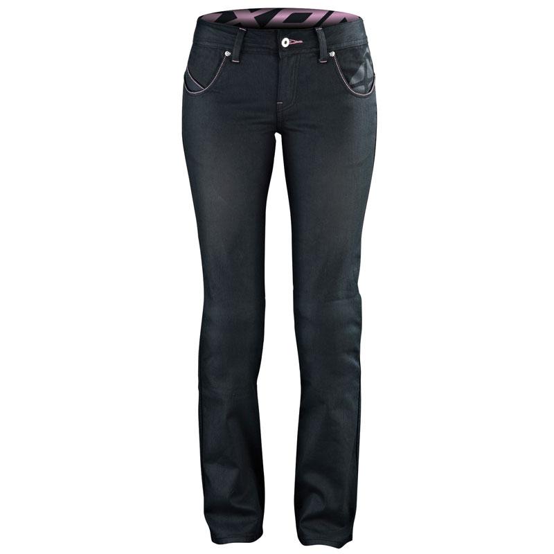 c2eede20a28ef Pantalon moto femme jean noir et kevlar avec protections homologuées CE REF  : 15IFBB