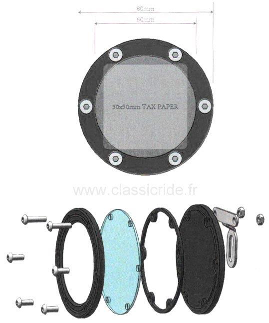 support vignette assurance moto rond mad noir porte vignette. Black Bedroom Furniture Sets. Home Design Ideas