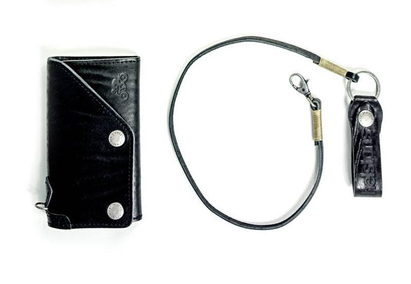 Chaine portefeuille moto custom wallet ceinture leather cuir motard biker