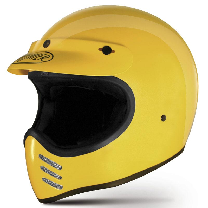 casque premier mx u12 jaune casque cross vintage scrambler. Black Bedroom Furniture Sets. Home Design Ideas