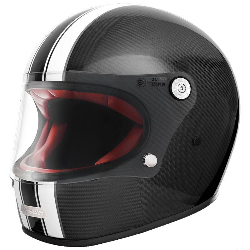 premier trophy carbon t0 casque moto int gral vintage biker. Black Bedroom Furniture Sets. Home Design Ideas