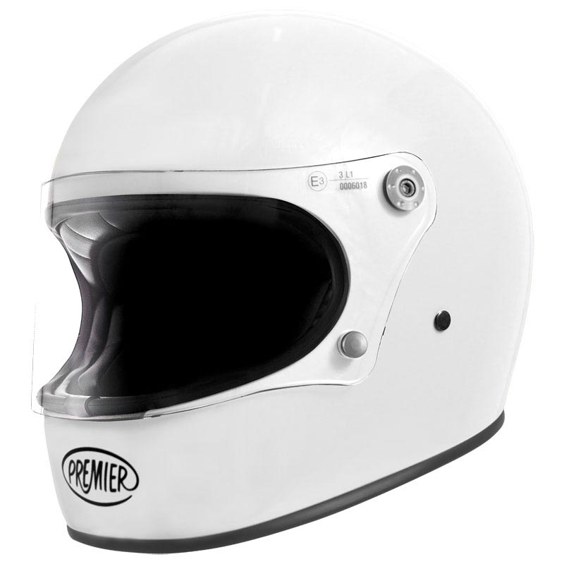 premier trophy u8 blanc brillant casque moto int gral vintage. Black Bedroom Furniture Sets. Home Design Ideas