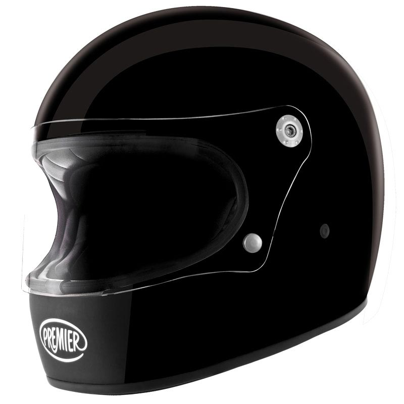 premier trophy u9 noir brillant casque moto int gral vintage. Black Bedroom Furniture Sets. Home Design Ideas