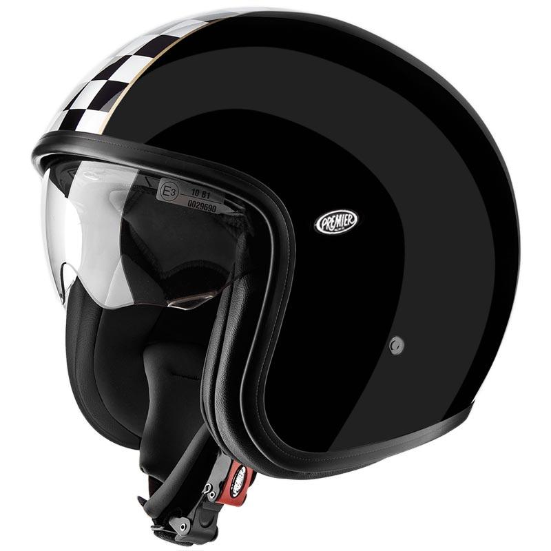 casque premier vintage ck black jet biker harley noir brillant. Black Bedroom Furniture Sets. Home Design Ideas
