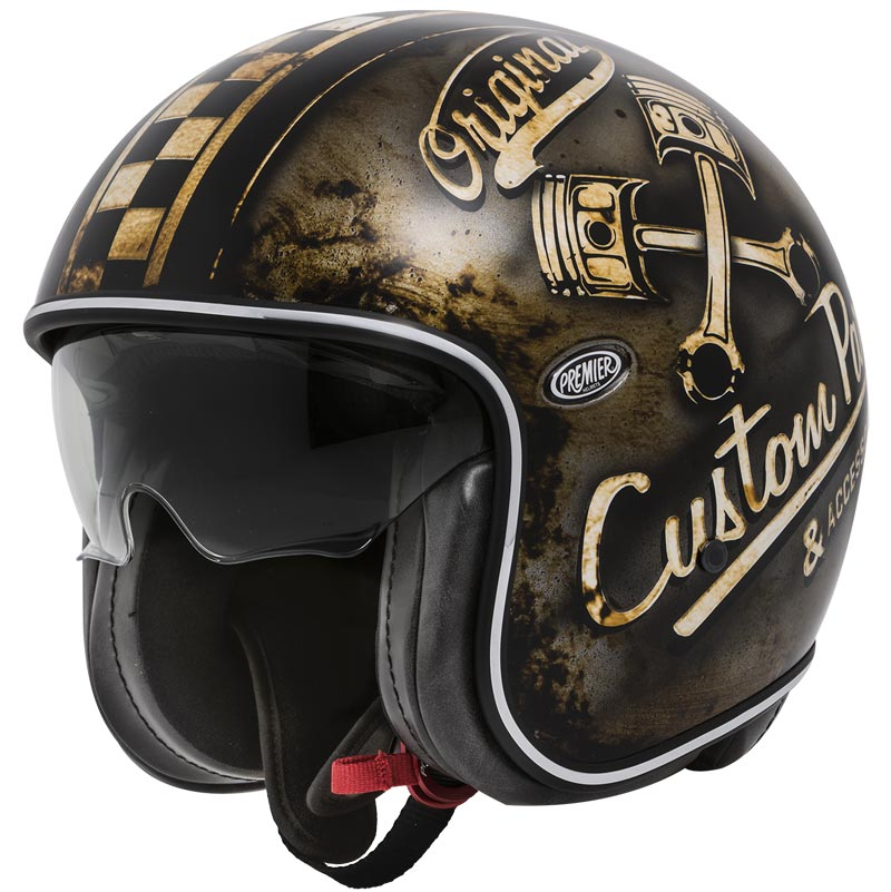 casque premier vintage op 9 bm jet custom cafe racer op9bm. Black Bedroom Furniture Sets. Home Design Ideas