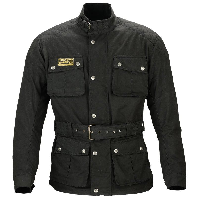 ride and sons arrow black blouson moto vintage look barbour. Black Bedroom Furniture Sets. Home Design Ideas