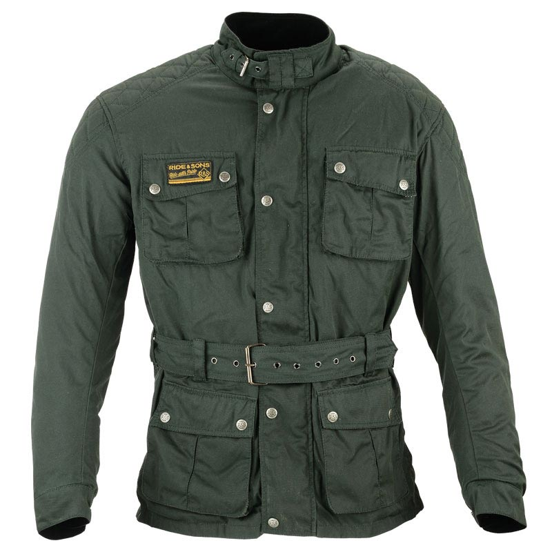 ride and sons arrow green army blouson moto vintage look. Black Bedroom Furniture Sets. Home Design Ideas