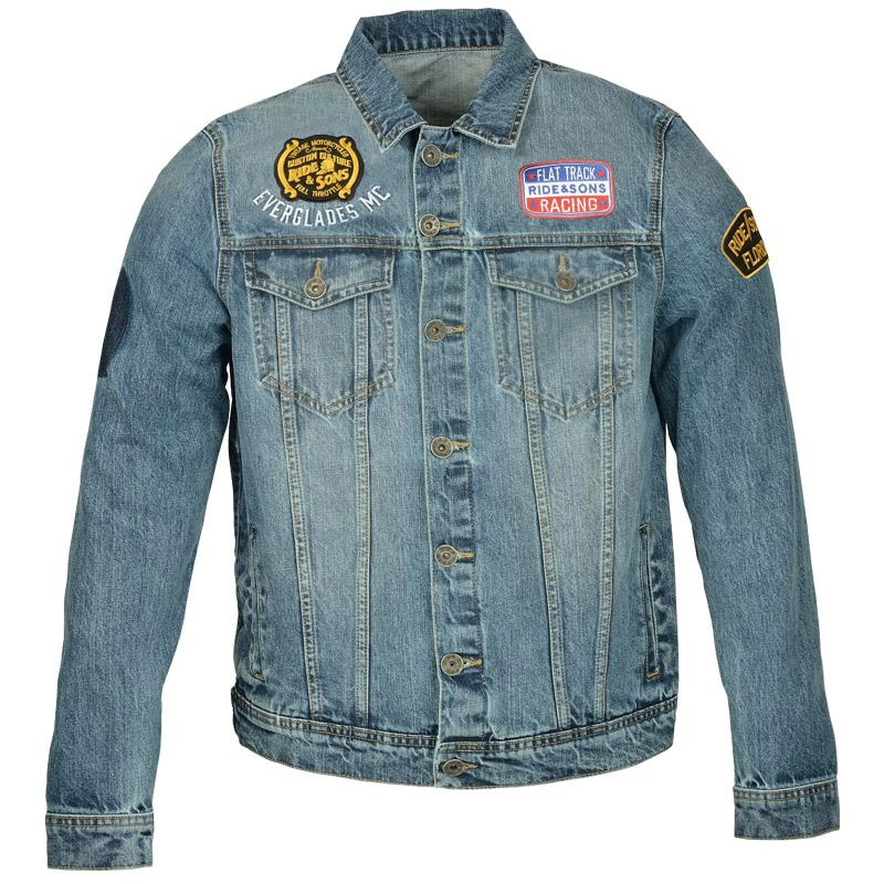 ride and sons everglades denim blouson moto vintage homme. Black Bedroom Furniture Sets. Home Design Ideas