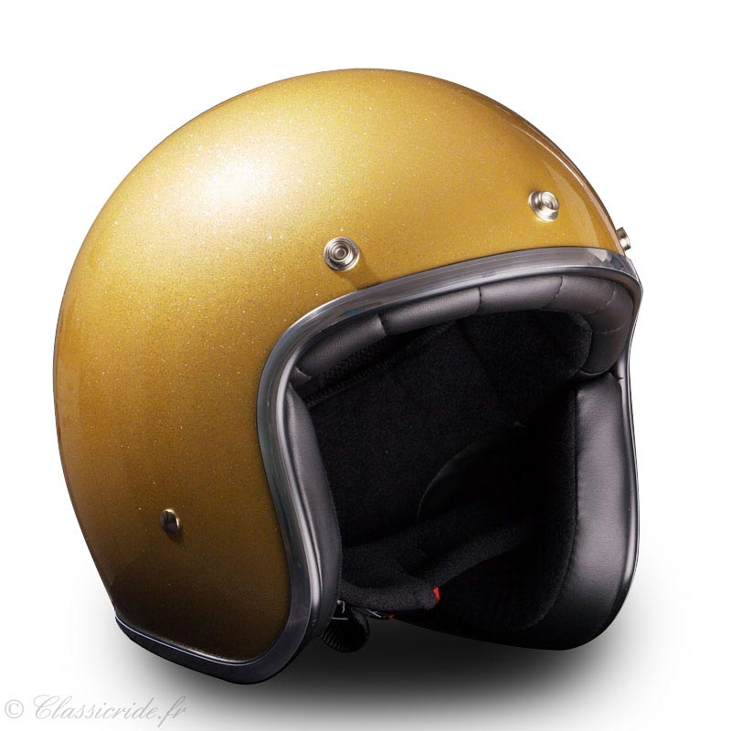 stormer pearl gold paillette casque jet vintage moto scooter. Black Bedroom Furniture Sets. Home Design Ideas