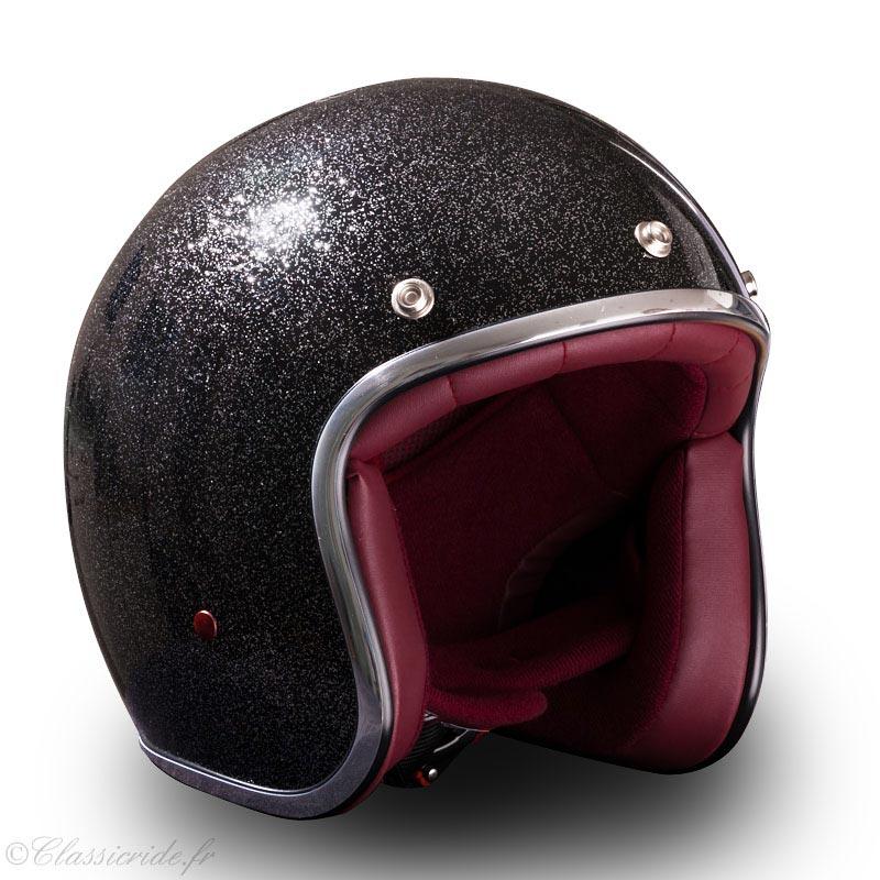 stormer pearl paillette noir casque moto jet vintage biker. Black Bedroom Furniture Sets. Home Design Ideas