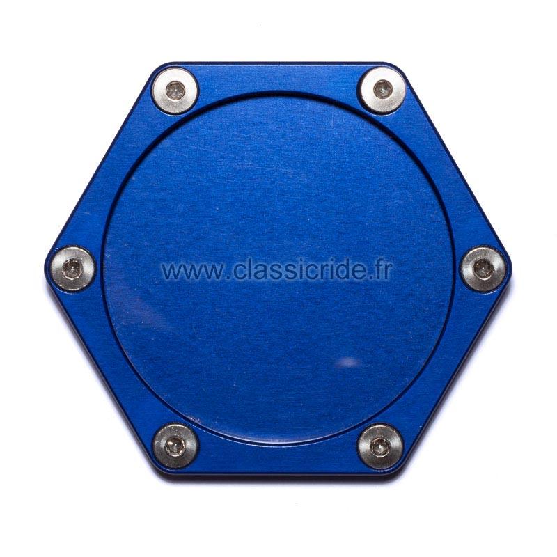 support assurance moto hexagonal mad alu bleu porte vignette. Black Bedroom Furniture Sets. Home Design Ideas