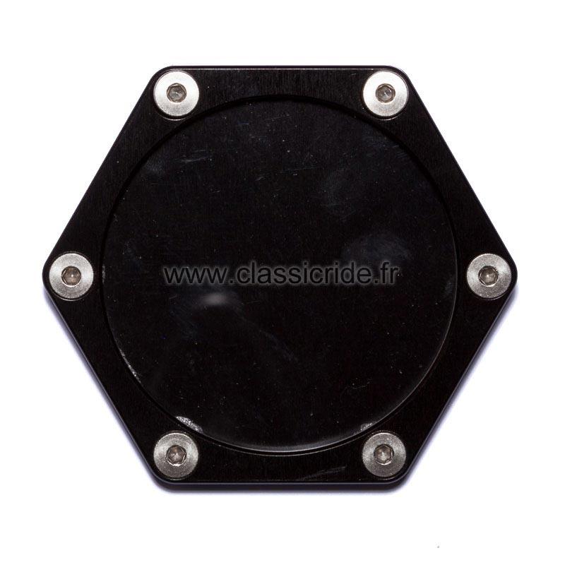 support assurance moto hexagonal mad alu noir porte vignette. Black Bedroom Furniture Sets. Home Design Ideas
