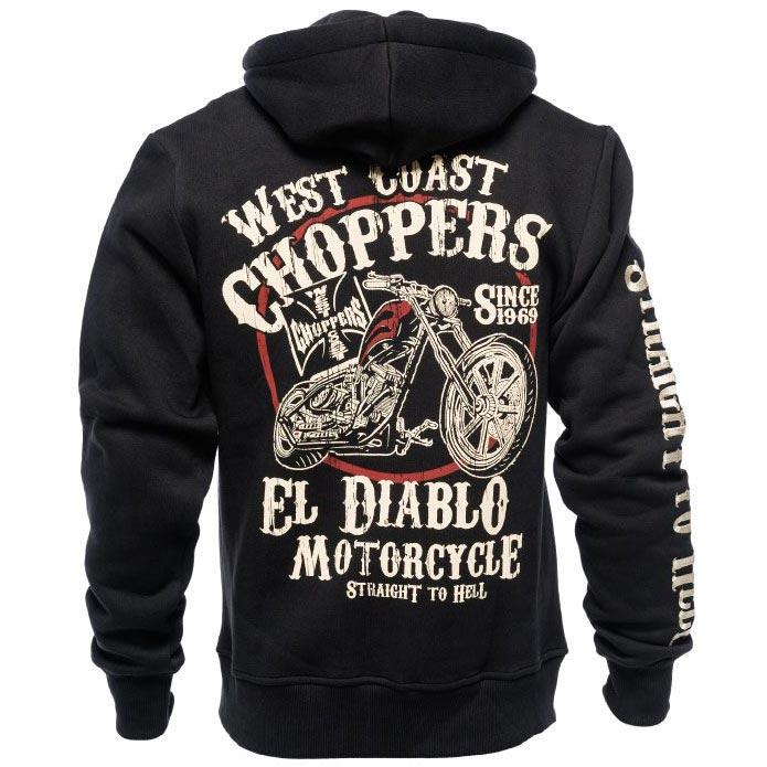 Sweat West Coast Chopper el Diablo, vêtement biker moto