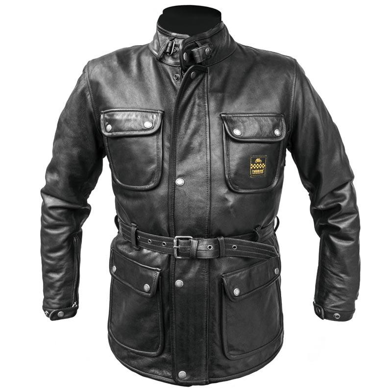veste helstons hunter cuir rag noir hiver moto vintage homme. Black Bedroom Furniture Sets. Home Design Ideas