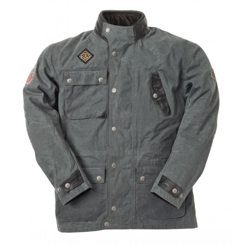 ride and sons escape grey veste moto vintage homme blouson. Black Bedroom Furniture Sets. Home Design Ideas