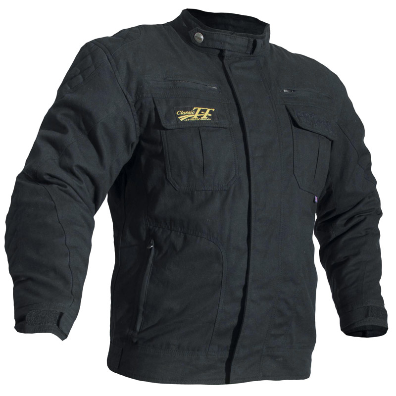 veste rst iom classic tt iii noir blouson moto textile. Black Bedroom Furniture Sets. Home Design Ideas