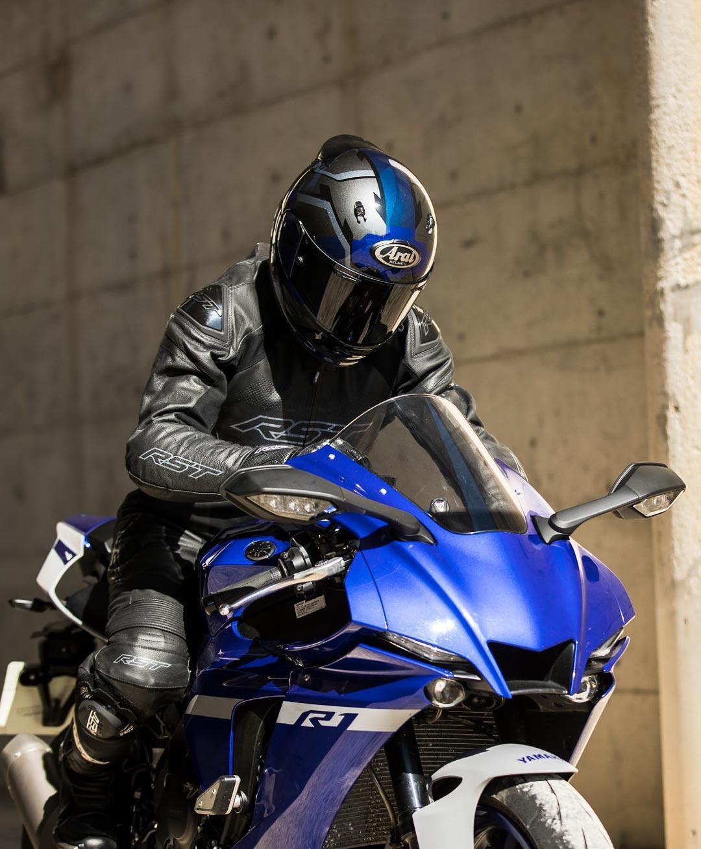 arai quantic face blue integral moto systeme ecran vas