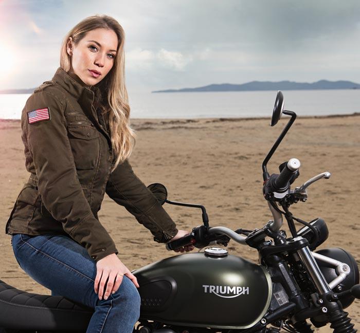 blouson segura femme moto vintage homologue motarde