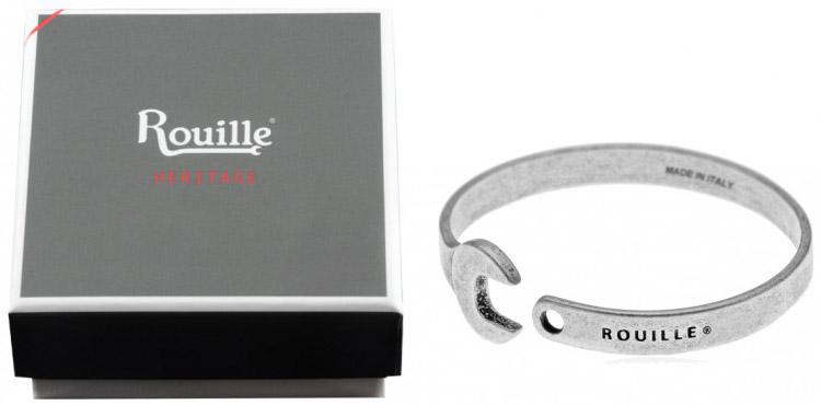 cadeau motard homme femme dans boite coffret bracelet rouille heritage