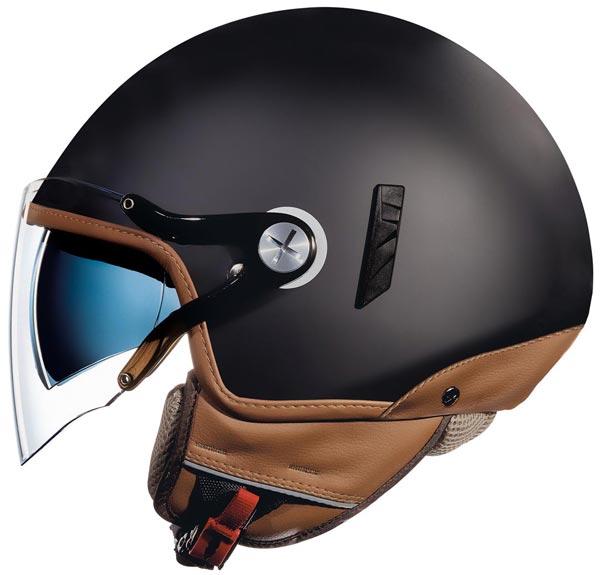 casque jet nexx sx60 jazzy black mat noir mat scooter