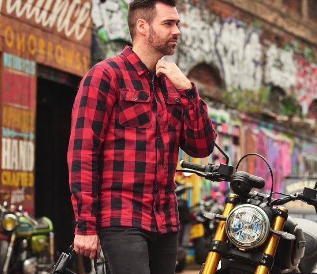 chemise moto kevlar avec protection veste motard renforcee homme