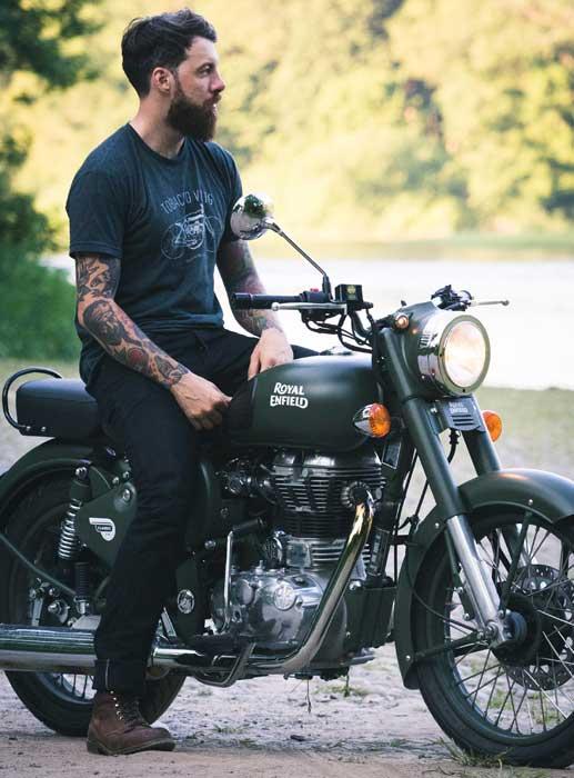 moto vintage royal enfield bullet